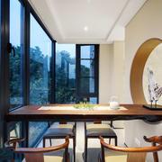 中式风格别墅室内精美书房设计装修效果图