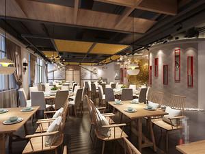 新中式风格精致餐厅设计装修效果图