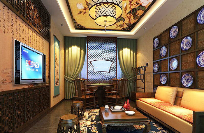 格精致茶楼设计装修效果图,中式风格以宫廷建筑为代表的中国古典