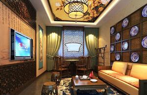中式风格精致茶楼设计装修效果图