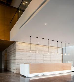 现代简约风格写字楼室内前台装修效果图