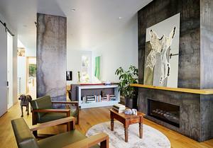 190平米后现代风格精致复式楼室内装修效果图