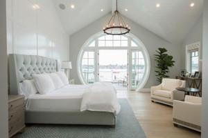 简欧风格精美别墅卧室设计装修效果图