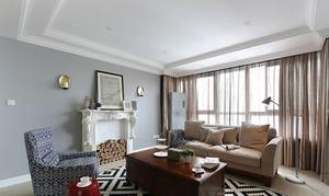 现代美式风格精致三室两厅两卫装修效果图,美国是一个崇尚自由的国家,这也造就了其自在、随意的不羁生活方式,没有太多造作的修饰与约束,不经意中也成就了另外一种休闲式的浪漫。