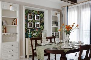 经典美式风格精美餐厅设计装修效果图