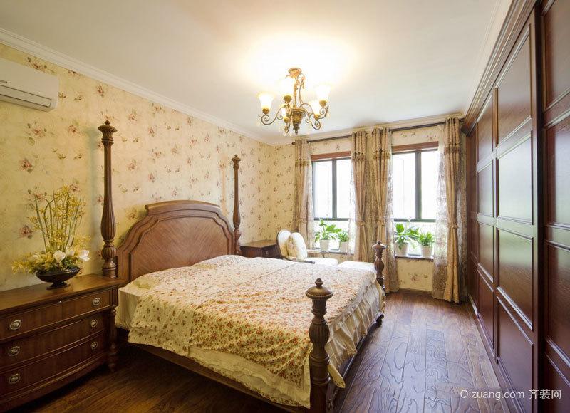 美式田园风格精致卧室设计装修效果图