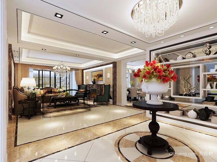 300平米欧式风格经典别墅室内装修效果图