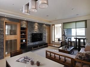 75平米日式风格简约两室两厅室内设计装修效果图