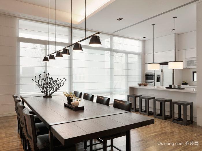 现代风格大户型精致餐厅设计装修效果图