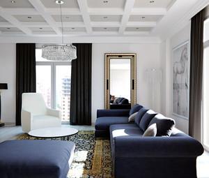 70平米现代风格公寓装修效果图赏析