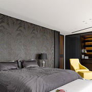 现代风格冷色调时尚卧室设计装修效果图