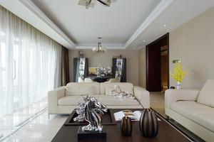 新中式风格精致大户型客厅装修效果图