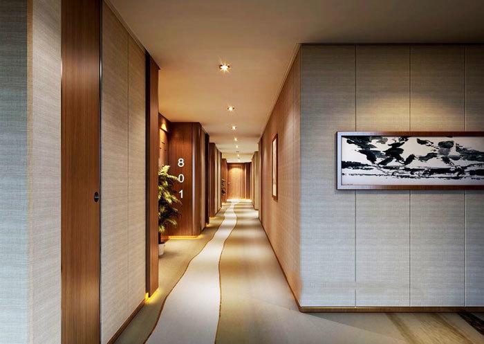 现代风格据精致宾馆过道设计装修效果图