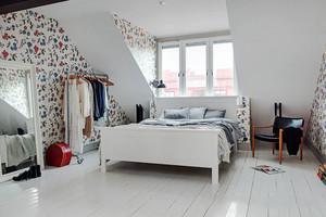 北欧风格简约阁楼卧室设计装修效果图
