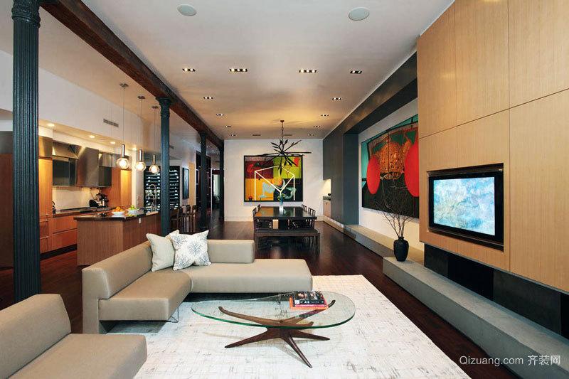 后现代风格时尚客厅设计装修效果图赏析