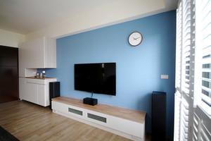 67平米简约风格一居室室内装修效果图