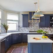 美式风格清新整体厨房设计装修效果图赏析