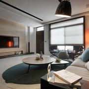 日式风格简约禅意客厅设计装修效果图