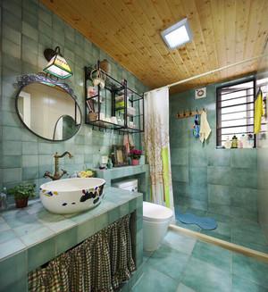 81平米田园风格清新两室两厅室内装修效果图