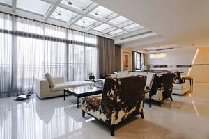 现代风格大户型时尚客厅设计装修效果图