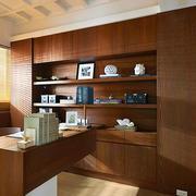 现代风格精致三居室书房设计装修图