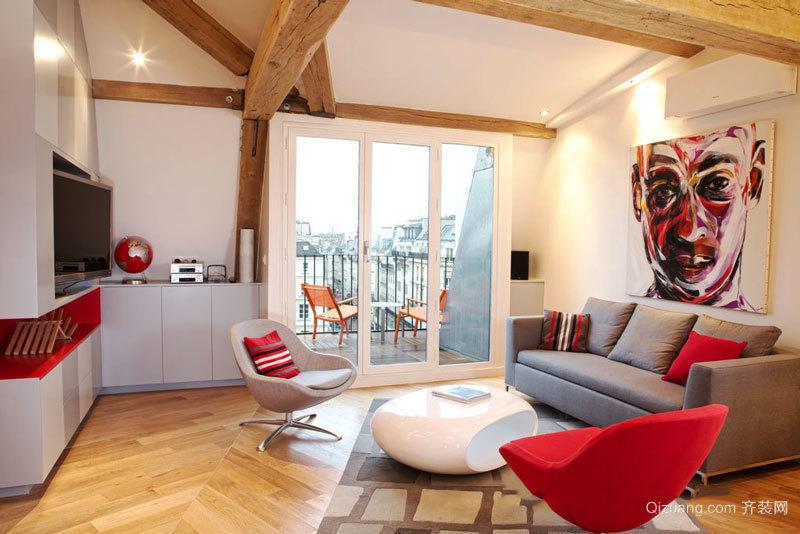 现代风格时尚个性客厅设计装修效果图