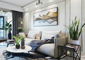 新中式风格素雅精美客厅设计装修效果图
