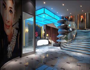 现代风格精致KTV大厅设计装修效果图