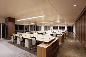 现代风格小型办公室设计效果图
