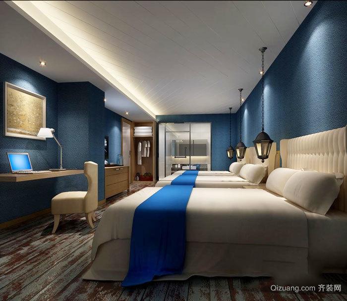 简欧风格酒店标准间设计装修效果图