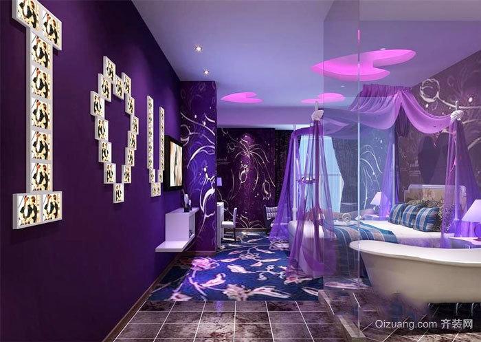 欧式风格精美主题酒店客房设计装修效果图