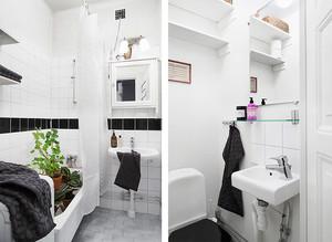 72平米北欧风格简约两室两厅室内装修效果图