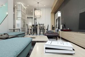 68平米现代简约风格单身公寓设计装修效果图