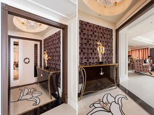 180平米欧式风格奢华大户型室内装修效果图,在一般住宅公寓项目中,也有常用欧式风格。这种一般追求欧式风格的浪漫,优雅气质和生活的品质感。