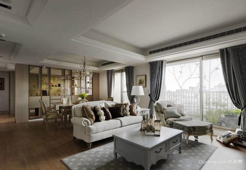 欧式风格精致典雅客厅设计装修效果图赏析