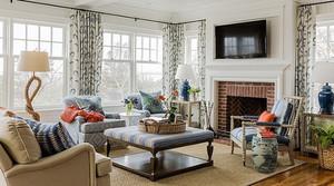 300平米欧式田园风格清新别墅室内装修效果图