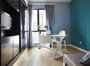 106平米现代简约风格三室两厅室内设计装修效果图