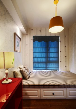 138平米现代美式风格三室两厅两卫装修效果图