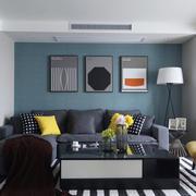现代风格时尚小户型客厅设计装修效果图