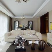 新中式风格素雅精致客厅设计装修效果图