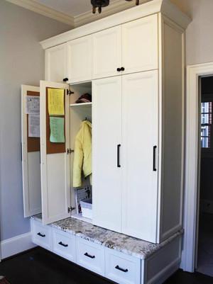 美式风格精致玄关鞋柜设计装修效果图
