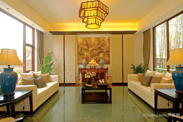 210平米中式风格古典复式楼室内装修效果图