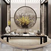 中式风格典雅精致别墅书房装修效果图