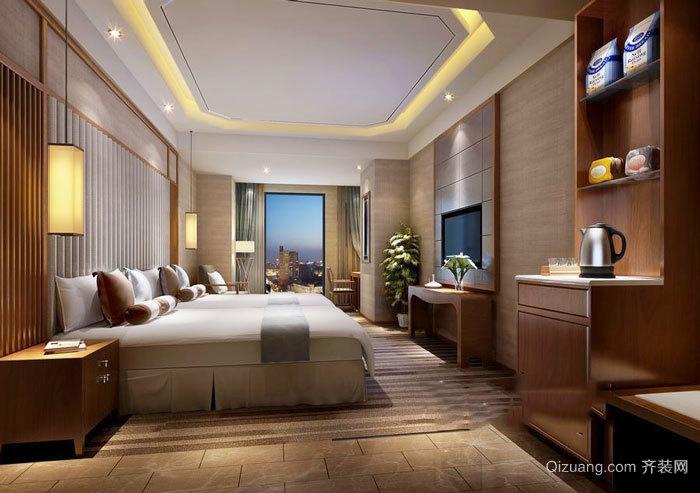 中式风格酒店客房设计装修图图片