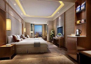 中式风格酒店客房设计装修图
