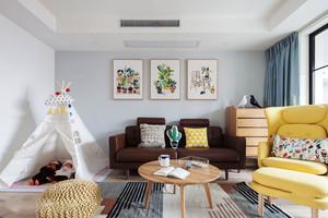 北欧风格时尚靓丽小户型客厅装修效果图
