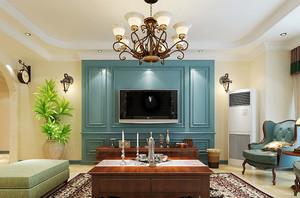 地中海风格混搭时尚两室两厅室内设计装修效果图