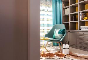 62平米清新风格简约一居室装修效果图