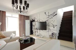 139平米现代简约风格复式楼室内设计装修图