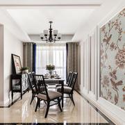 新中式风格精致复古餐厅装修效果图